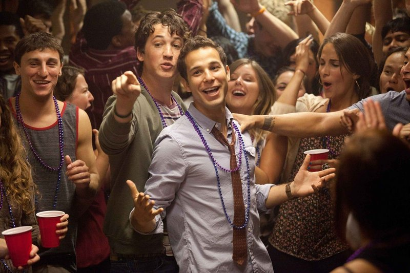 "Miles Teller is Miller and Skylar Astin is Casey in ""21 and Over."""