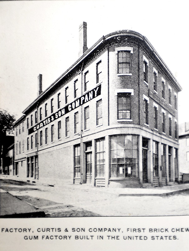 Th gum factory at 291 Fore St., which later became the Portland Hub Furniture store.