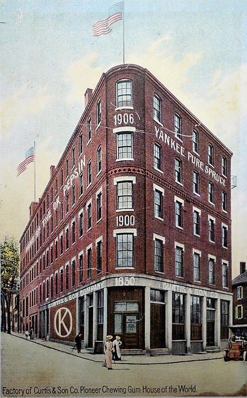 The gum factory after addition of third and fourth floors in 1906.