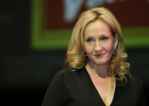 Author J.K. Rowling unveils her book