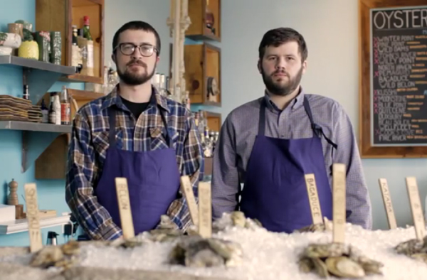 Mike Wiley and Andrew Taylor, chefs and owners of Eventide Oyster Co., photographed in their restaurant Monday, March 11, 2013, are nominated for Food & Wine Magazine's Best New Chef award.