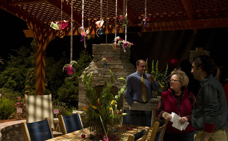 Visitors to last year's Portland Flower Show study a winning display from Jaiden Landscaping.
