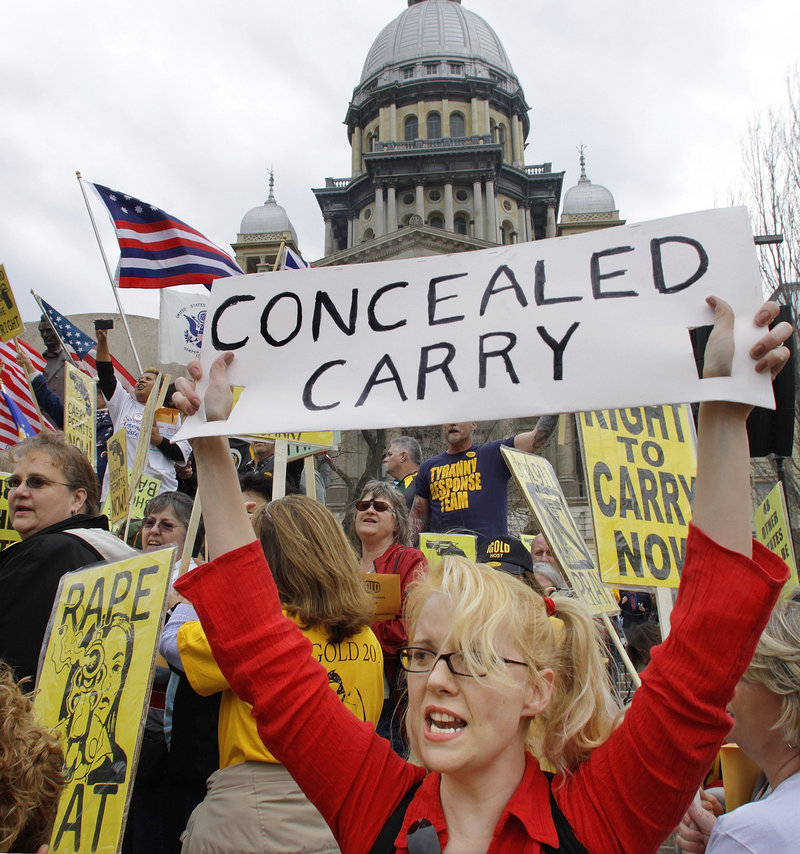 Gun owners have been quick to push back when they believe their rights are in jeopardy. John Mayer of Vestal, N.Y., attends a rally outside New York's Capitol in Albany in February.