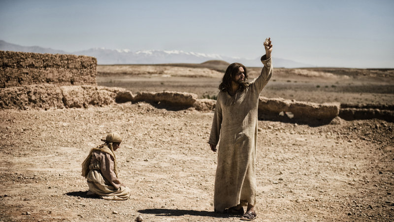 "Diogo Morgado portrays Jesus in a scene from ""The Bible,"" which premieres Sunday on the History channel."