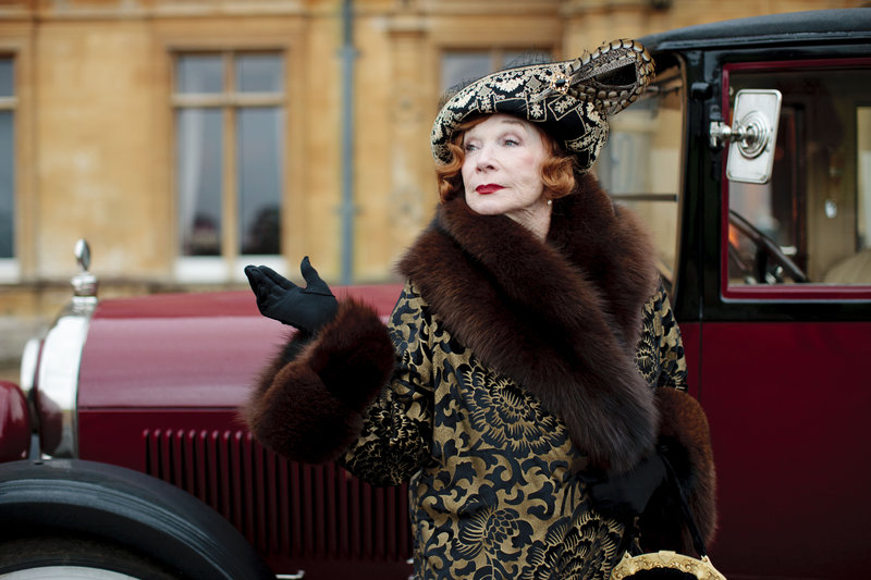 "This undated publicity photo provided by PBS shows Shirley MacLaine as Martha Levinson from the TV series ""Downton Abbey."""