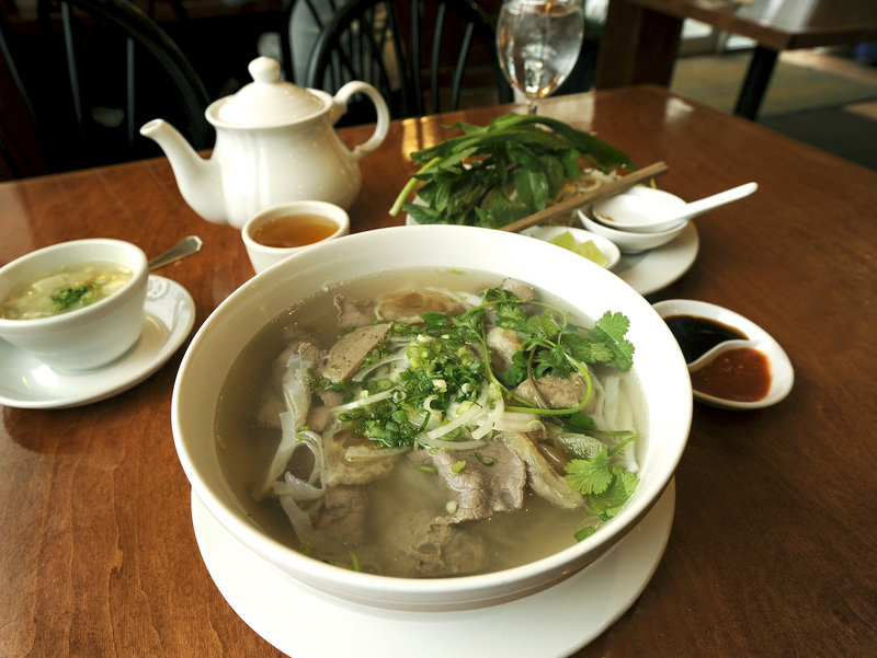 "Jeff Buerhaus, chef/owner of Walter's in Portland, credits the pho from Saigon in Portland with healing his flu-ravaged staff. ""Delicious, and got us back on our feet."""