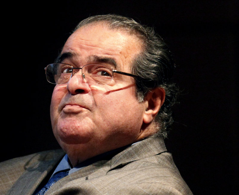 "Justice Antonin Scalia, above, called the Voting Rights Act a ""perpetuation of racial entitlement"" at a Supreme Court hearing last week. ""This is like complaining that there isn't a White History Month,"" a reader says."
