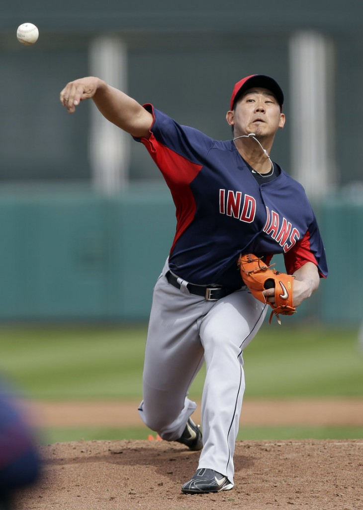 Daisuke Matsuzaka pitched three innings without allowing a run Tuesday for the Cleveland Indians in a 4-3 victory against San Francisco. Matsuzuka gave up five hits.