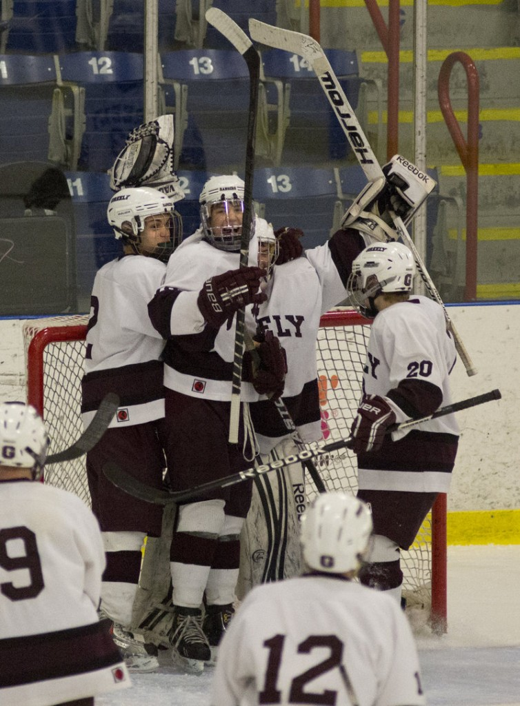 One celebration down and Greely will be hoping for another Saturday after defeating Camden Hills 7-1 to win the Western Class B boys' hockey title, earning a rematch with Messalonskee for the state championship.