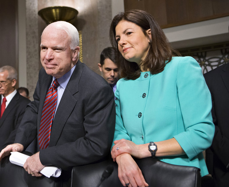 Sen. John McCain, R-Ariz., and Sen. Kelly Ayotte, R-N.H., are among a group of Republicans President Obama invited to an informal dinner on Wednesday to discuss the budget.