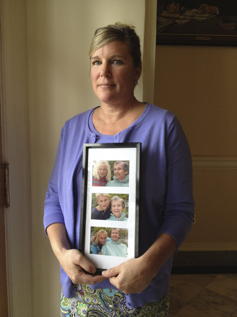 "Sally Tartre of Kennebunk, whose late mother had Alzheimer's disease, spoke March 14 at a State House news conference on Maine's first strategic plan to address dementia-related issues. The subject ""really hits home for my family,"" says a reader whose 86-year-old father died of Alzheimer's/dementia March 3."