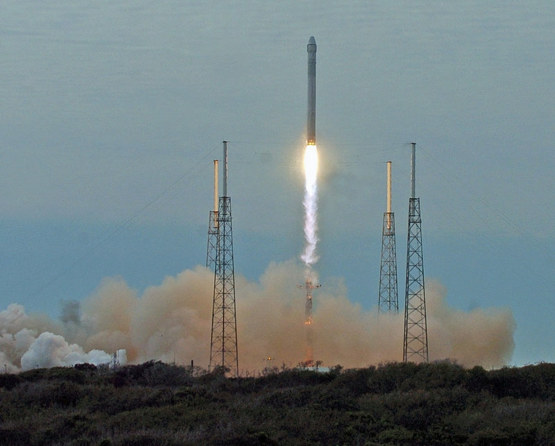 A SpaceX Falcon 9 rocket launches March 1 from Cape Canaveral Air Force Station for its second resupply mission to the space station.