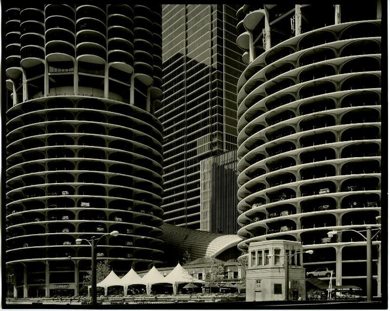 """Untitled, Chicago,"" ultrafine archival ink print by Ilya Askinazi, from the exhibition of his new work continuing through April 20 at Elizabeth Moss Galleries in Falmouth. Photographic images by Brenton Hamilton also are on view."