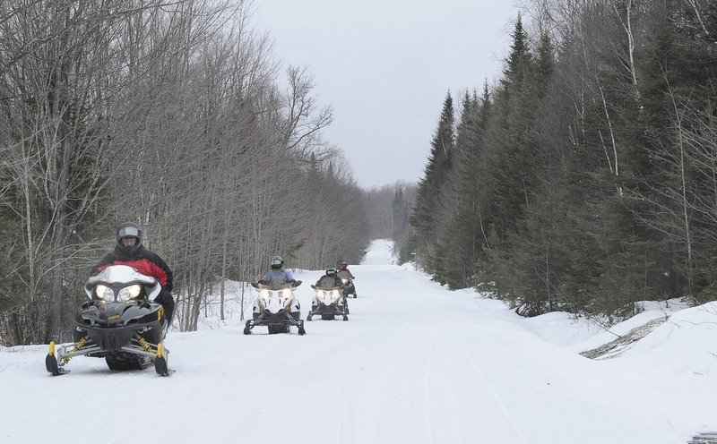 Historic Pittston Farm in the North Woods is among Maine's many locales that continues to offer access to first-rate snowmobiling as adequate snow cover should last well into the spring.