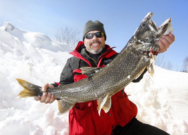 The ice on Sebago Lake was thick enough to support an ice-fishing derby in 2010, when Paul Willette of Cape Elizabeth caught an 11-pound, 9-ounce togue, or lake trout.