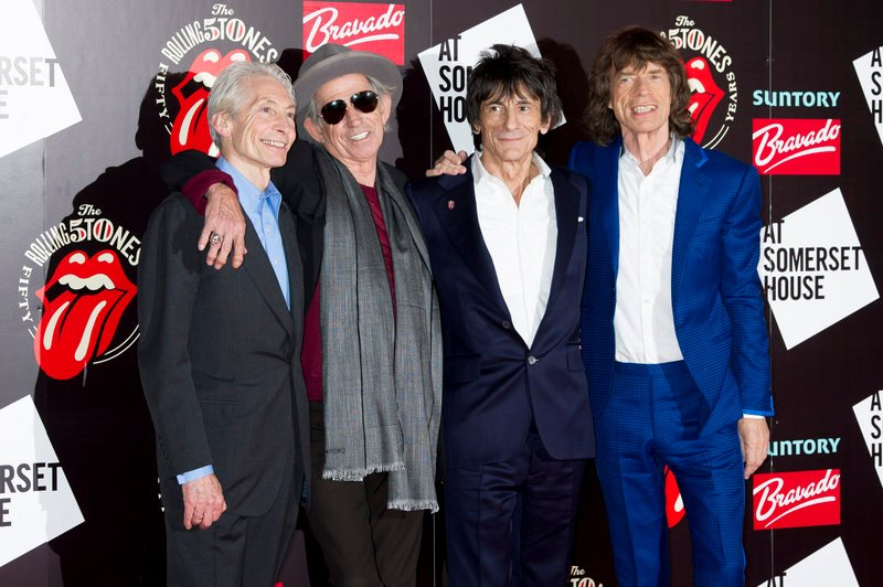 The Rolling Stones – from left, Charlie Watts, Keith Richards, Ronnie Wood and Mick Jagger – will perform June 29 at one of Britain's top music festivals.