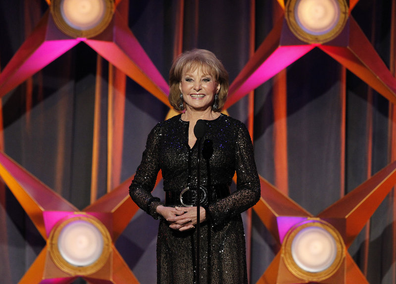 Barbara Walters speaks on stage at the 39th Daytime Emmy Awards in Beverly Hills, Calif., in 2012. Walters reportedly will retire next year.