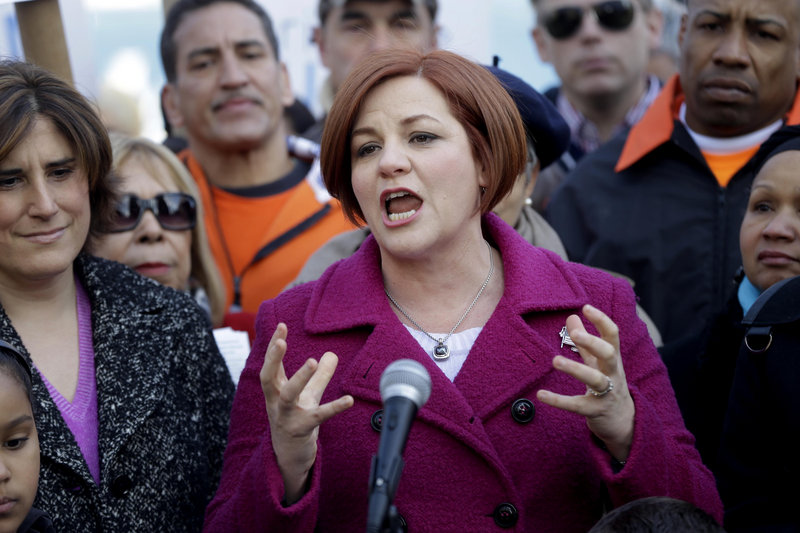 New York City Council Speaker Christine Quinn, shown earlier this month, lauded the sick time deal Friday as meeting both workers' needs and employers' concerns.