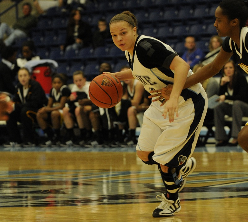 Her playing career over after multiple knee injuries, Rachele Burns spent this season as a student assistant for the Black Bears.