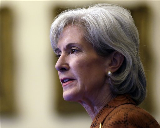 Human Services Secretary Kathleen Sebelius speaks in Philadelphia in this Feb. 20, 2013, photo. President Obama's budget next week will steer clear of major cuts to Medicaid, including tens of billions the administration proposed only last year. The White House is holding harmless the federal-state health care program for low-income people while wooing financially skittish states to expand Medicaid coverage to millions now uninsured.