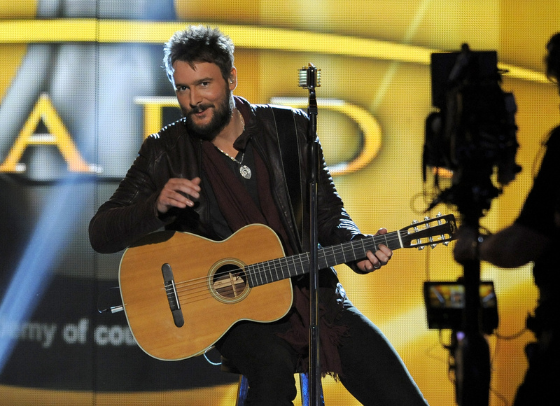 Eric Church performs at the 48th Annual Academy of Country Music Awards at the MGM Grand Garden Arena in Las Vegas on Sunday.