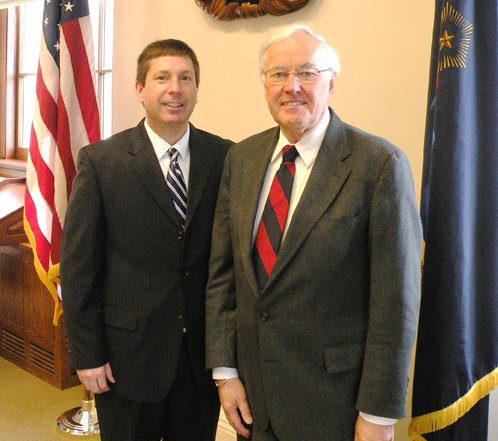 State Rep. Kenneth Fredette, R-Newport, left, and John Martin of Eagle Lake co-chair the Franco-American Leadership Council.