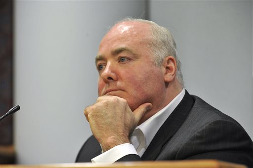 Michael Skakel testifies during his appeal trial at Rockville Superior Court in Vernon, Conn., on Thursday. Skakel argues trial attorney Michael Sherman got caught up in the limelight of the high-profile case and failed to prepare.