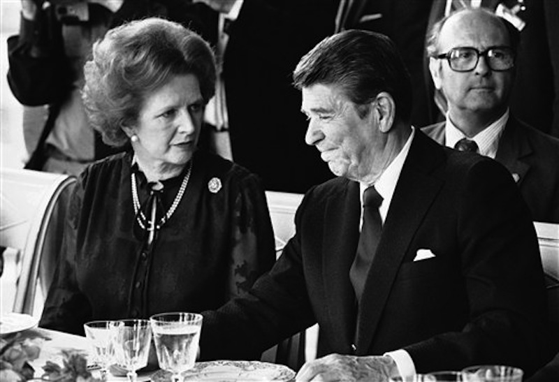U.S. President Ronald Reagan and Britain's Prime Minister Margaret Thatcher: Their belief in conservative supply-side were as central to the story of the 1980s as Michael Jackson's moonwalk.