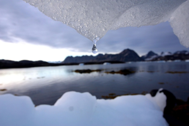 In this August 2005 file photo, an iceberg melts in Kulusuk, Greenland. Nearly a dozen of the Maine's top environmental groups turned out for a legislative hearing Thursday, April 4, 2013 to urge the state to revive its plan to help the state adapt to a changing climate. (AP Photo/John McConnico)