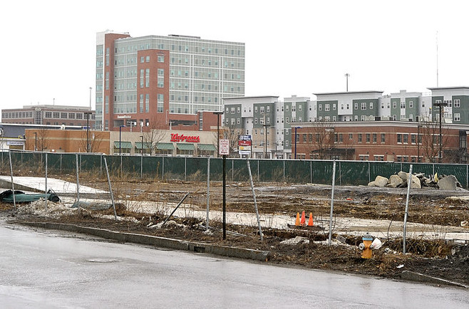 "The former scrap and rail yard on Somerset Street is the site of the proposed ""midtown"" development, which won site plan approval Tuesday night from the Portland Planning Board."