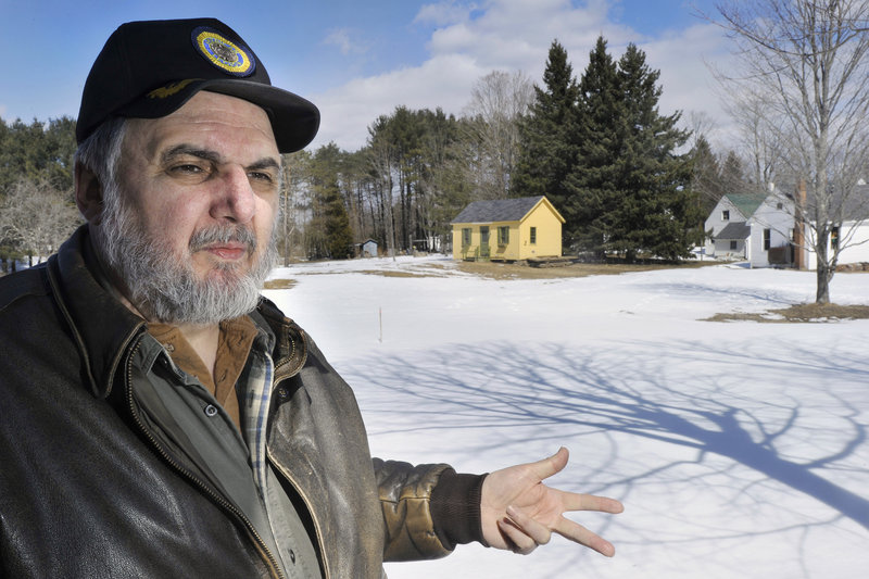David Tanguay is vice president of the Windham Historical Society and says he already has all the makings of a one-room schoolhouse, but not the structure itself.