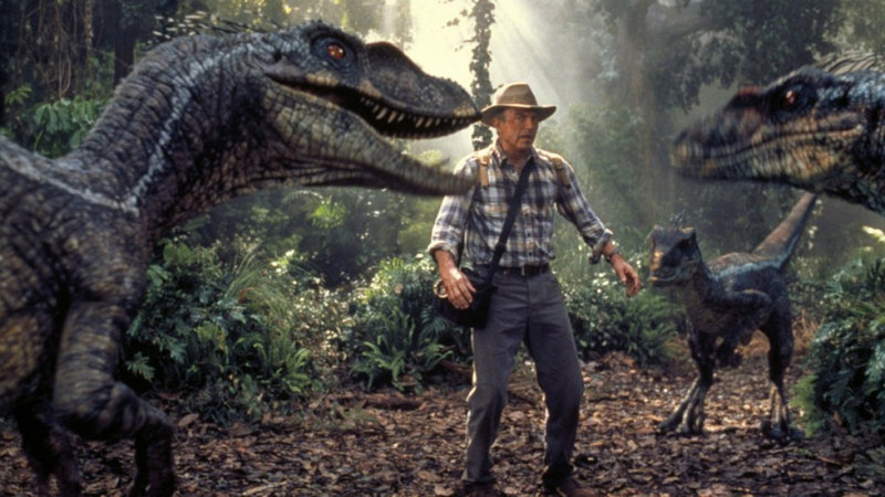 "The scientist played by Sam Neill finds himself in a tight spot in ""Jurassic Park 3D."" Neill has signed on for ""Jurassic Park 4,"" due out in 2014."