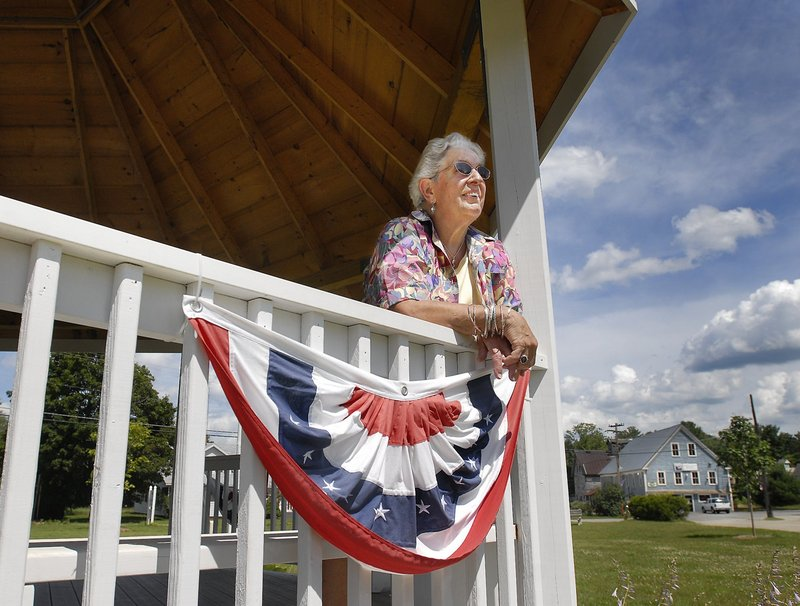 Lifelong resident Ellen Walker was a prime mover in the creation of this gazebo and park near the center of the village of Steep Falls in the town of Standish. The town has adopted form-based zoning, which could, over time, attract a community of people who want to live near where they can shop or work.
