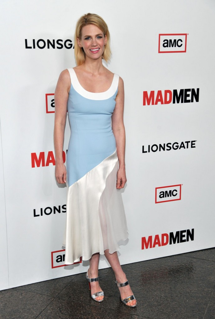 "January Jones of AMC's ""Mad Men"" tops many best- and worst-dressed lists."