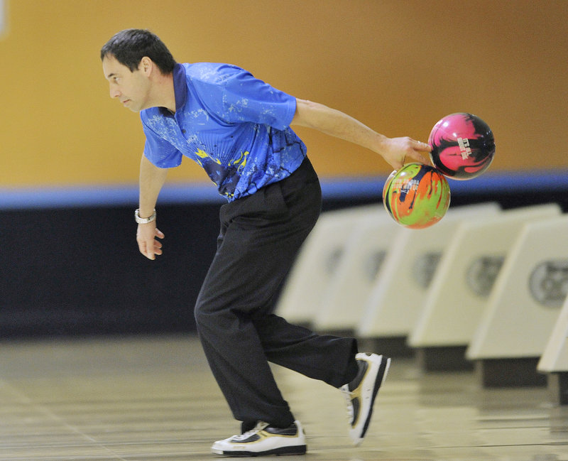 One pin standing in one corner, another pin in the opposite corner? No problem for Parker Bohn III, who used two balls at the same time to knock them down and give a taste of the talent that put him in the PBA Hall of Fame.