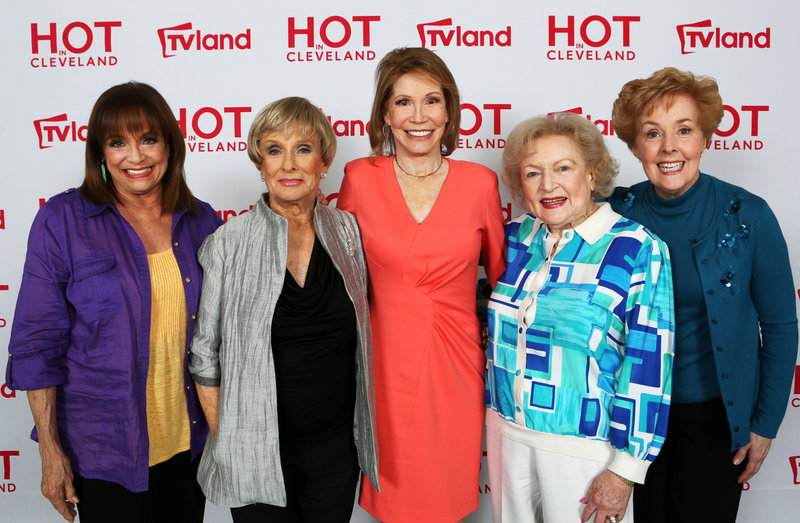Actresses Valerie Harper, Cloris Leachman, Mary Tyler Moore, Betty White and Georgia Engel reunite last week in Los Angeles.