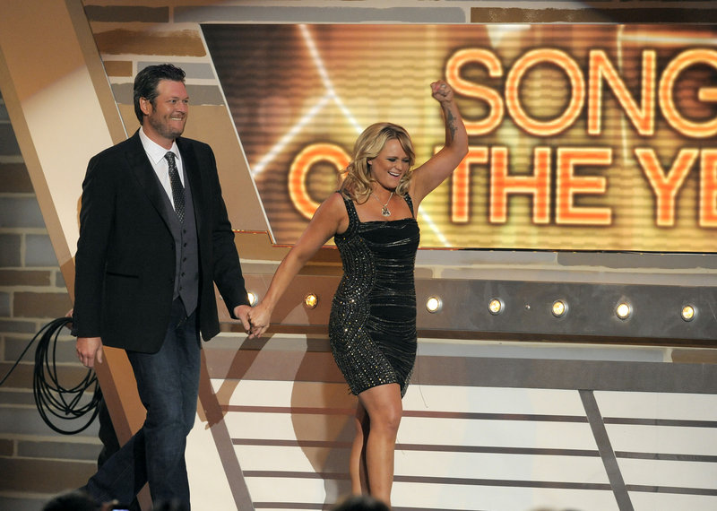 Blake Shelton and Miranda Lambert won song of the year.