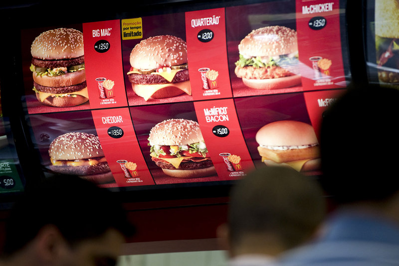 A McDonald's restaurant in Sao Paulo, Brazil, where legislators are considering restrictions on fast-food marketing.