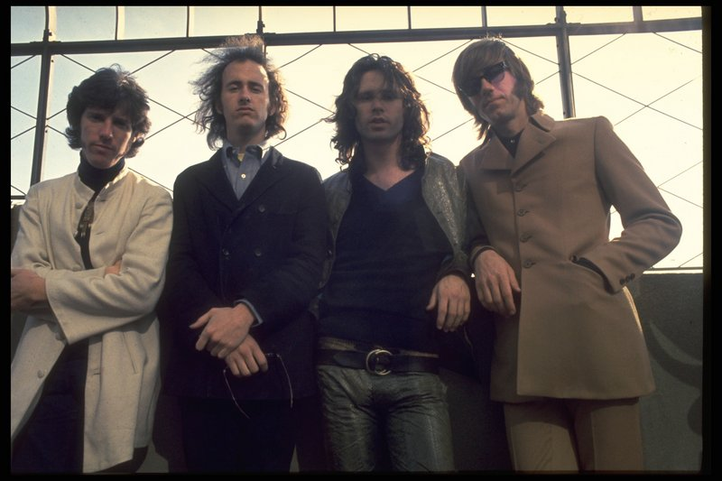 The Doors (John Densmore, Robby Krieger, Jim Morrison and Ray Manzarek) in the late '60s.