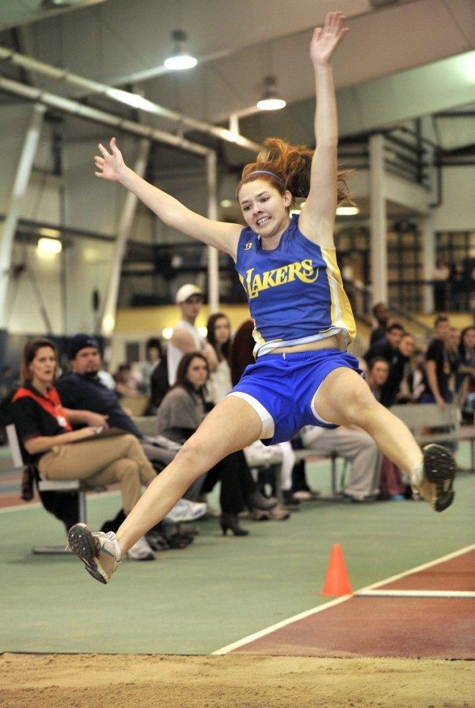 Kate Hall, still just a sophomore for Lake Region, is a sensation for in track and field events, including the long jump.