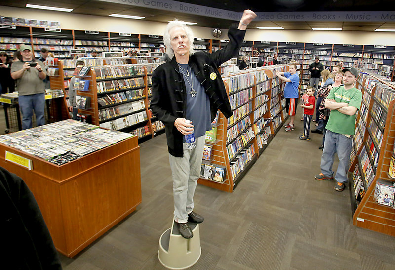 John Densmore, former drummer of The Doors, appears at Bull Moose in Scarborough during Maine's Record Store Day on Saturday.