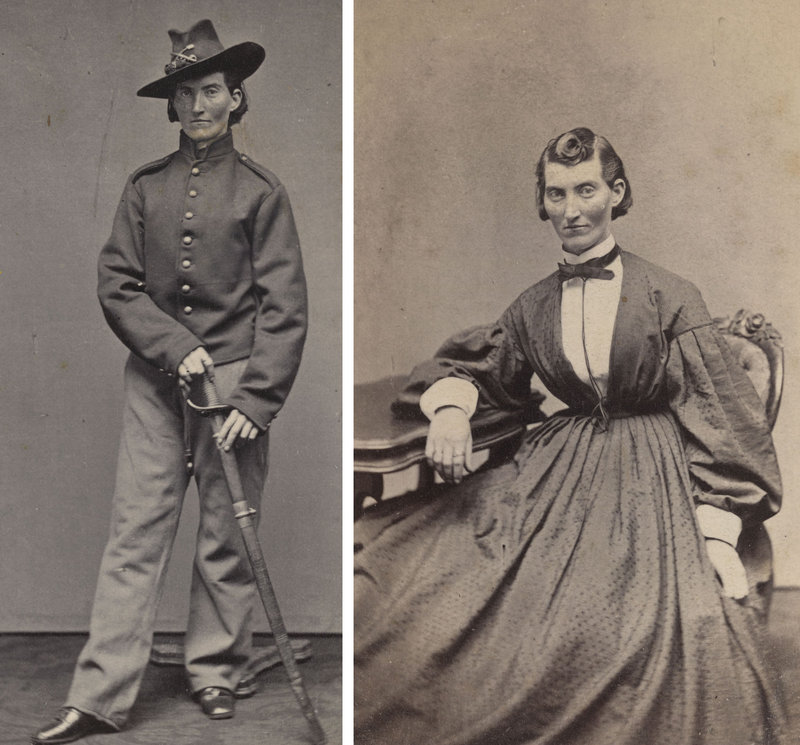 "Frances Clalin Clayton disguised herself as ""Jack Williams"" to fight in the Civil War. She is seen here around 1865."