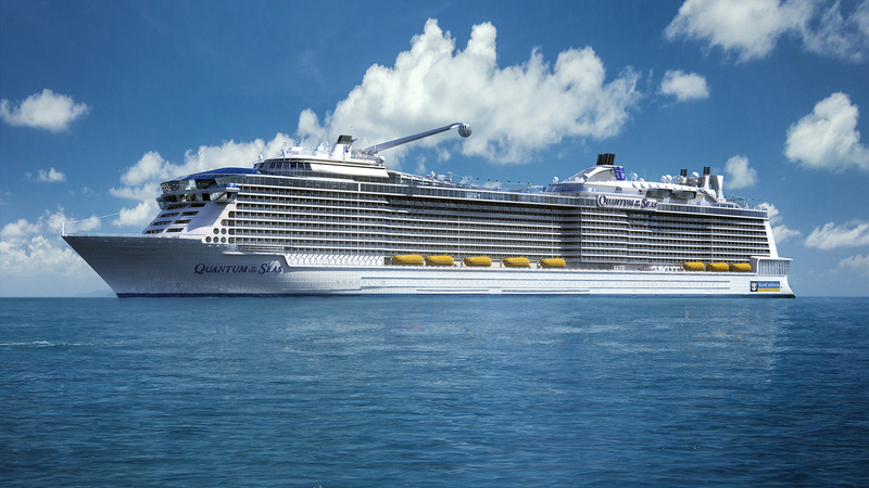 This computer-generated image provided by the Royal Caribbean International cruise line shows the new Quantum of the Seas, which will visit Portland in 2015.