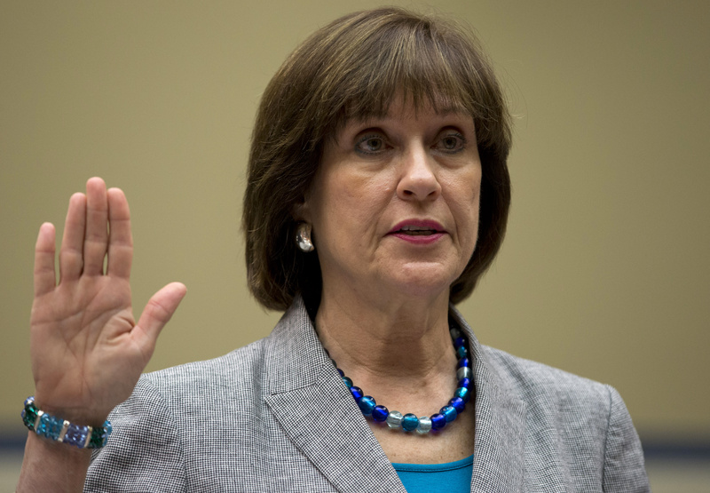 IRS official Lois Lerner is sworn in on Capitol Hill in Washington on Wednesday before the House Oversight Committee hearing to investigate the extra scrutiny IRS gave to tea party and other conservative groups that applied for tax-exempt status.