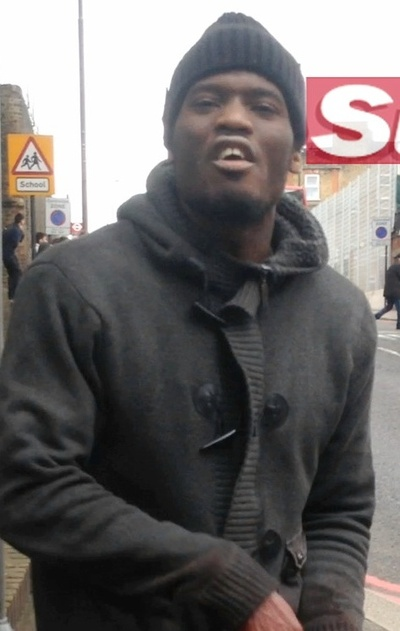 This man was filmed on the street, claiming responsibility after the attack in London on Wednesday.