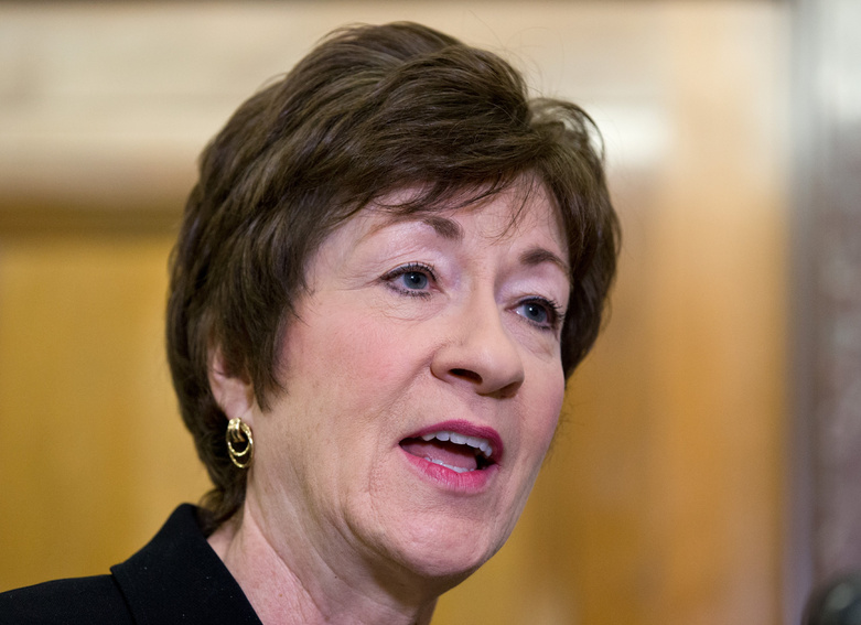 Sen. Susan Collins, R-Maine, was among legislators Thursday unveiling a bill to revamp how the military handles sexual assault complaints.