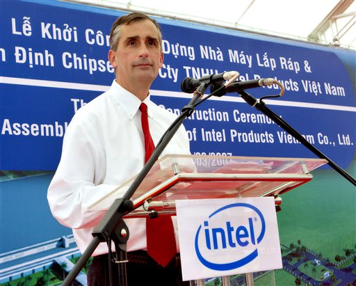 Brian Krzanich started at Intel in 1982 as a process engineer and worked his way up through the manufacturing side of the business to become COO in January 2012.