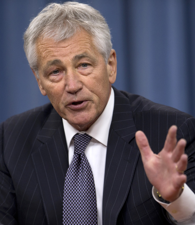Defense Secretary Chuck Hagel speaks at the Pentagon Friday about steps to prevent sexual assaults in the military.
