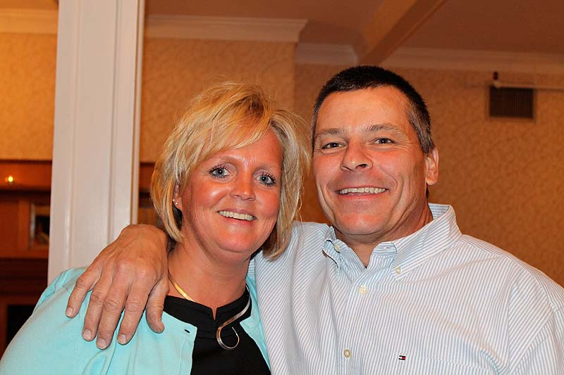 Rhonda Hebert, branch manager for Biddeford Savings Bank and Education Foundation board member, with her husband, Steve.