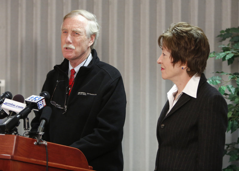The financial disclosure statements from Maine's U.S. senators show both are well-off financially, with Angus King, left, worth as much as $26 million, and Susan Collins as much as $3 million.